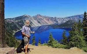 Bob and Cody at Crater Lake on my Birthday