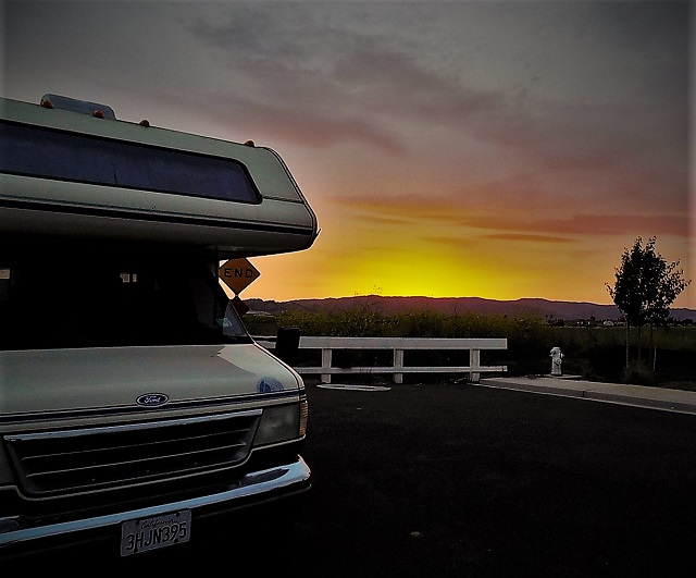 Stealth camping in a Class C RV fulltime