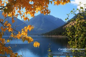 Gorgeous fall views at Wallowa Lake in Joseph, OR