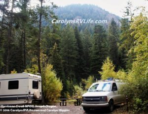 Hurricane Creek Campground Joseph, OR
