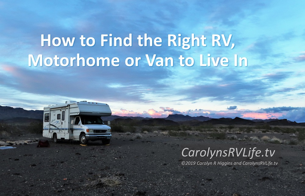Should you live in an RV or a Van or something else?