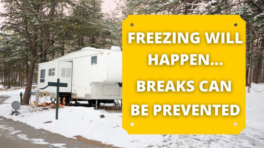 Prevent breaks in freezing weather